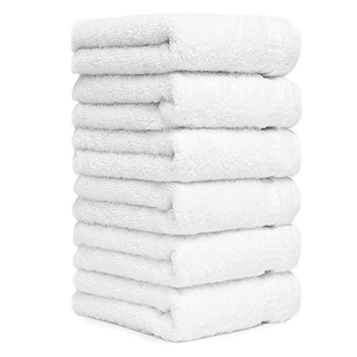Luxury Turkish Cotton White Hand Towels For Bathroom Kitchen