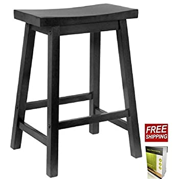 Amazon Com Wooden Stool 24 Inch Stool Chair Crafted Of