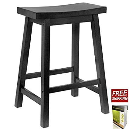 Pleasant Amazon Com Wooden Stool 24 Inch Stool Chair Crafted Of Gamerscity Chair Design For Home Gamerscityorg