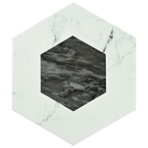 SomerTile FEQ8BXG Murmur Bardiglio Hexagon Porcelain Floor and Wall Tile, 7'' x 8'', Geo by SOMERTILE (Image #5)