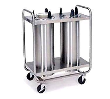 Lakeside 7305 Non-Heated Open Frame Mobile Dish Dispenser, Three Tubes & 5-3/4