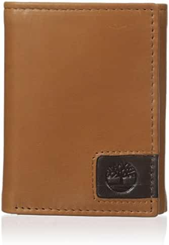 Timberland Men's Cloudy Logo Tab Trifold Wallet
