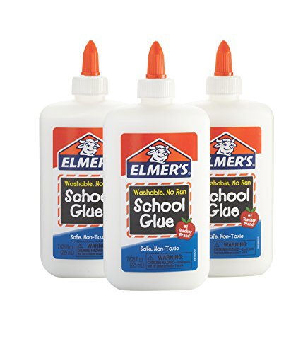 Elmer's Liquid School Glue, White, Washable, 7.625 Ounces, 3 Count Slime (Glue Pack)