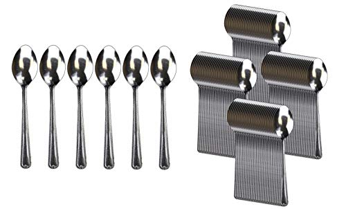 Handi-Ware Stainless Steel Cutlery - Multi-Pack Bulk - Tumble Finish - Commercial Use (120, Teaspoon)