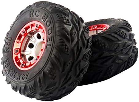 2個 RCカーホイールリム タイヤ 1:12 RCカーパーツ