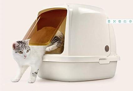 Cajas de Arena para Gatos Cerradas Desmontable a Prueba de ...