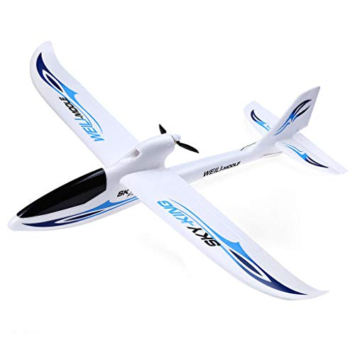(Yliquor 2.4G 3CH F959 RC Control Airplane WLtoys Sky King Aircraft Wingspan RTF Radio Gift (Blue))