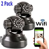 Coolcam WiFi HD 720P IP Network Camera, Wireless, Video Monitoring, Surveillance, Security Camera, Plug/Play, Pan/Tilt with 2-Way Audio and Night Vision IR Camera