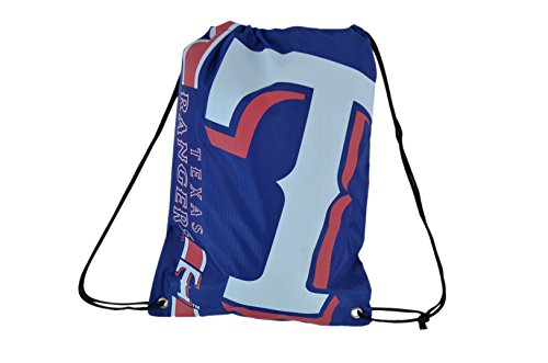 Forever Collectibles Official Major League Baseball Fan Shop Authentic Drawstring MLB Back Sack for Gym Tailgating or School (Texas Rangers) (Bag Texas Rangers)