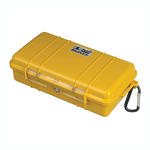 Pelican Waterproof Case 1060 Micro Case - for iPhone, GoPro, Camera, and More (Yellow)