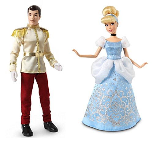 Disney Store Princess Cinderella & Prince Charming Classic 12 Doll Set