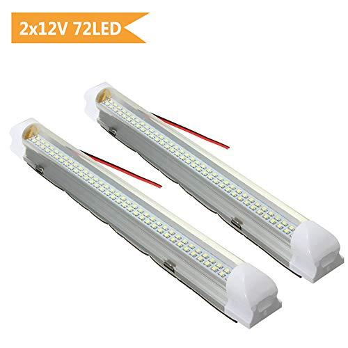 AMBOTHER Interior Lights 12V LED Strip Lights 72 LEDs Bar Lamp Universal Lighting DC12V 4.5W for Car Camper Van Bus Caravan Boat Motorhome Kitchen Bathroom ON//OFF Switch