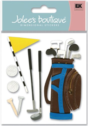 Jolees Boutique Golf - Jolees Boutique Dimensional Stickers, Golf Outing