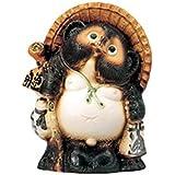 たぬき(信楽焼) 10号開運狸 [24×17.5×30.5cm] 置物 インテリア かわいい カフェ 縁起物 業務用