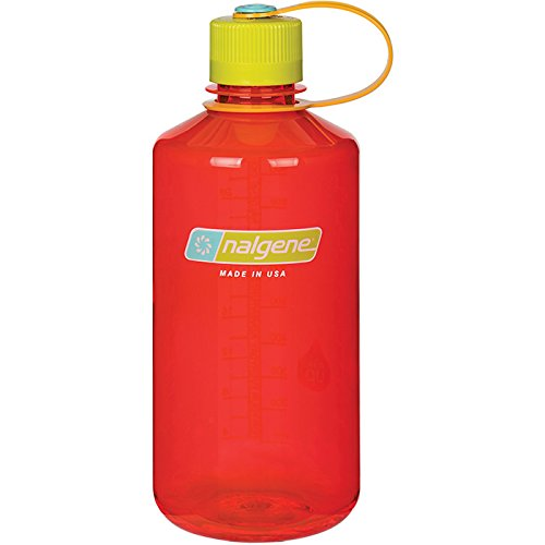 Nalgene Tritan 32 oz Narrow Mouth BPA-Free Water Bottle, Pomegranate