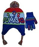 Disney Boys' PJ Masks Winter Scandinavian Hat with Pompom and Glove Set - Size 4-7 [4014]