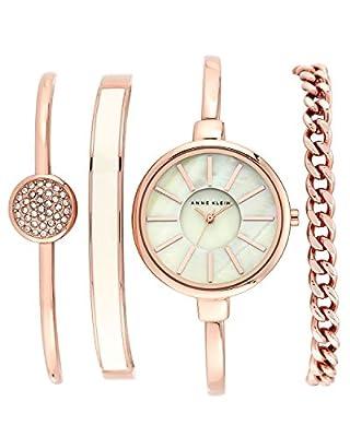 Anne Klein Women's AK/1470 Bangle Watch and Bracelet Set by Anne Klein