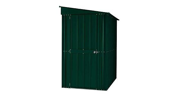 GLOBEL Industries metal dispositivos metal jardín casa & bicicleta Refugio de 8 x 5 Verde con Base de acero//234 x 144 x 199 cm (Alto)//cobertizo metal ...