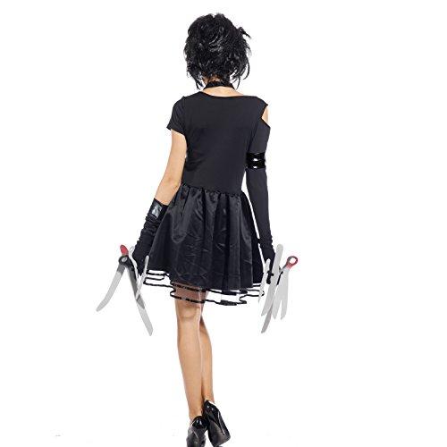 Maboobie - Disfraz de Miss Manostijeras para Mujer Adulto Dress Fiesta Temática Carnaval Halloween (Talla M): Amazon.es: Juguetes y juegos