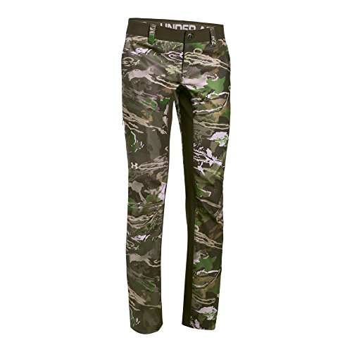 Under Armour Women's Fletching Pant,Ridge Reaper Camo Fo /Metallic Beige, 4 by Under Armour (Image #1)