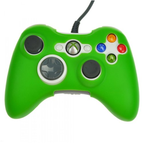 HDE Silicone Skin for Xbox 360 Controllers Rubberized Protective Cover for Microsoft Xbox 360 Wired and Wireless Gamepads (Green)