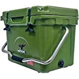 ORCA ORCG020 Cooler with Single Flex-Grip Stainless Steel Handle for Simple Solo Portage, 20 quart