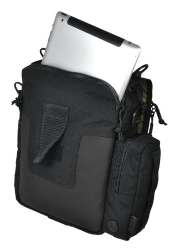 Kato(TM) iPad/Tablet Mini-Messenger Bag w/MOLLE by Hazard 4(R) - Black