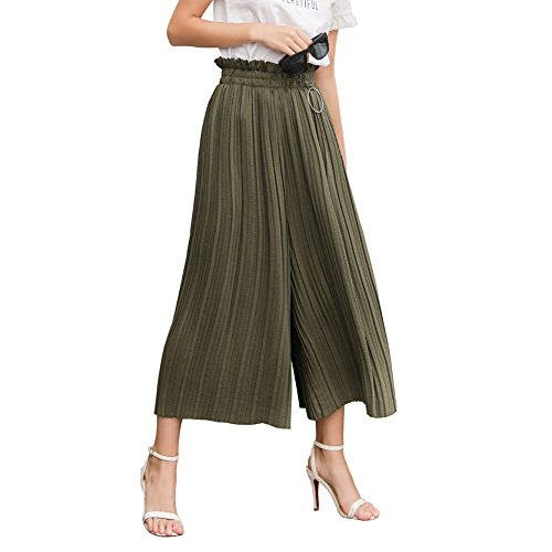 Stripe Cropped Trousers - 8