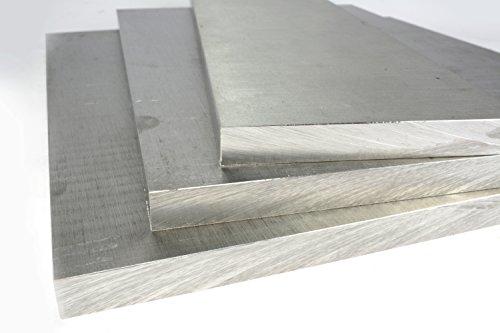 "TEMCo 1/4 Inch 3\""x12\"" 6061 Aluminum Tooling Flat Sheet Plate Bar Mill Stock"
