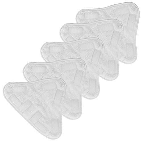 Spares2go Universal Triangle Microfibre Washable Cleaning Pads for Steam Cleaner Mop by Spares2go