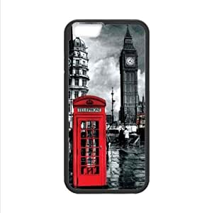 Customized Classic British London Red Telephone Box And Big Ben Apple iphone 6 4.7 TPU (Laser Technology) Case, Cell Phone Cover