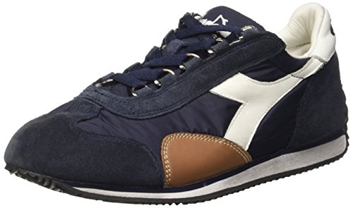Waxed Low Blue Equipe SW Nyl Adulto Diadora Top Denim – Unisex Blu Scarpe SxntpAWXB