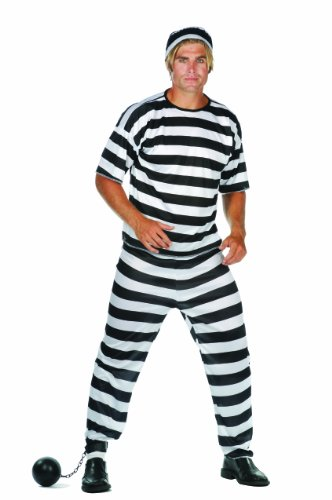 RG Costumes Convict Man, Black/White, One Size]()