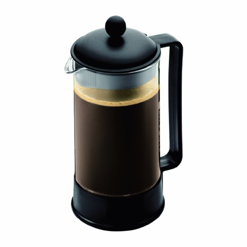 French Press Pot - Bodum Brazil French Press Coffee Maker, 34 Ounce, 1 Liter, (8 Cup), Black