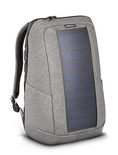 SUNNYBAG ICONIC solar backpack in cool gray, 7 Watt solar panel, Charge all Smartphones