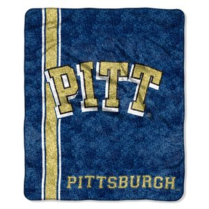 The Northwest Company Officially Licensed NCAA Pittsburgh Panthers Jersey Sherpa on Sherpa Throw Blanket, 50