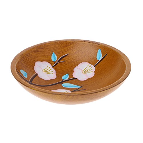 Price comparison product image JIANGTAOLANG Chinese Style Wood Plate Dishes Fruit Tray Plates Kitchen Dark Walnut Solid Wooden Bowl