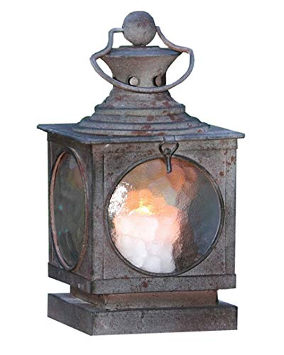 Metal Square Hanging Candle Lantern, Curved Glass Insert Product SKU: - Lantern Custom Hanging