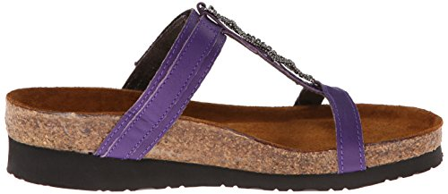 Calzature Naot Donna Sandalo In Pelle Color Malibu Quarzo Sandalo Viola