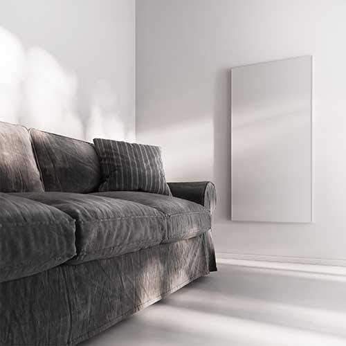 Wei/ß 800W heatness Infrarotheizung VCIR-800 heatness Simpel Wand XL
