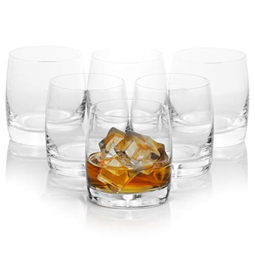 - Old Fashioned Whiskey Glass Set of 6, Classic and Lasting, Scotch, Whiskey  Rocks Glasses, Premium Bohemian Glass, Essential Collection, 9.8 Ounces / 290 Milliliters
