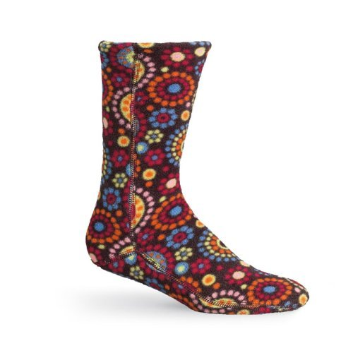 Acorn Womens VersaFit Socks in Chocolate Dots Size Small