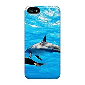 Premium Protection Animal Dolphins Backgrounds Case Cover For Iphone 5/5s- Retail Packaging