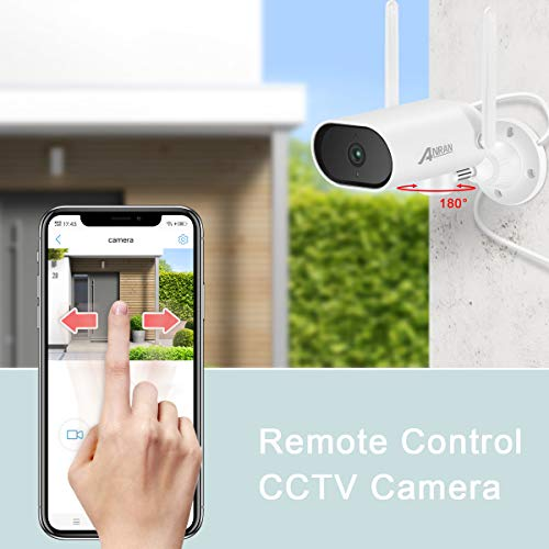 【5MP Pan Control】Outdoor Security Camera, Anran HD Wireless Wifi PTZ Camera Pan Tilt 4X Zoom Home CCTV Video&Audio Surveillance IP66 Waterproof Human Detection Pre-installed 32G SD Card
