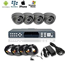 4 Channel Security Camera Full Package - Complete Package-500 Gb Hard Drive