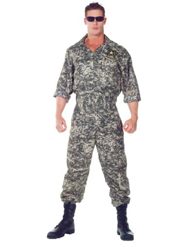 [Underwraps Men's U.S. Army Jumpsuit, Camo, One Size] (Us Army Costumes)