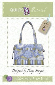 Quiltsillustrated Mini Bow Tucks Tote QI-026, Bags Central