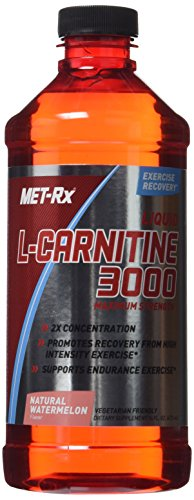 MET-Rx Liquid L-Carnitine 3000 Maximum Strength, Natural Watermelon, 16 ounce