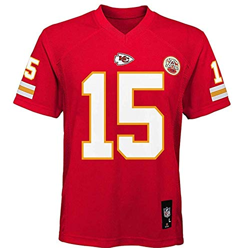 15 Home Jersey - Outerstuff Patrick Mahomes Kansas City Chiefs NFL Youth 8-20 Red Home Mid-Tier Jersey (Youth Small 8)