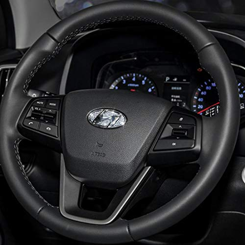JALII Bling Bling Car Steering Wheel Decorative Diamond Stickers For Hyundai Accessories Sonata Elantra IX35 IX25 Tucson Verna MISTRA Accent Steering Wheel Sign Logo Rhinestone Decals Cover